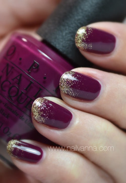 OPI What's The Hatter With You- Gold Gradient