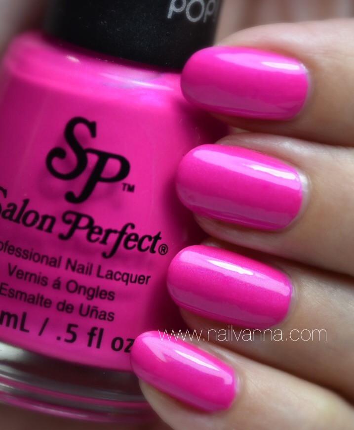 Nailvanna,nail polish reviews,lacquer,salon perfect,fired up fuchsia,neon