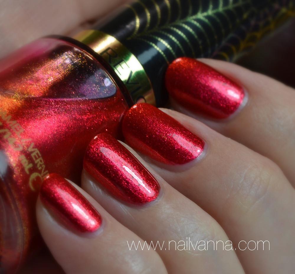 Nailvanna,nail polish reviews,lacquer,revlon,spidey sense,red foil