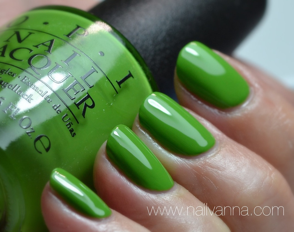 Nailvanna,nail polish reviews,lacquer,OPI,New Orleans,I'm Sooo Swamped,green