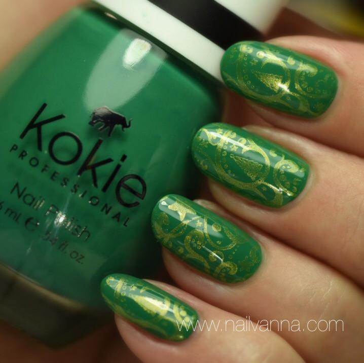 Nailvanna,nal polish reviews,lacquer,Kokie,All The Envy,green