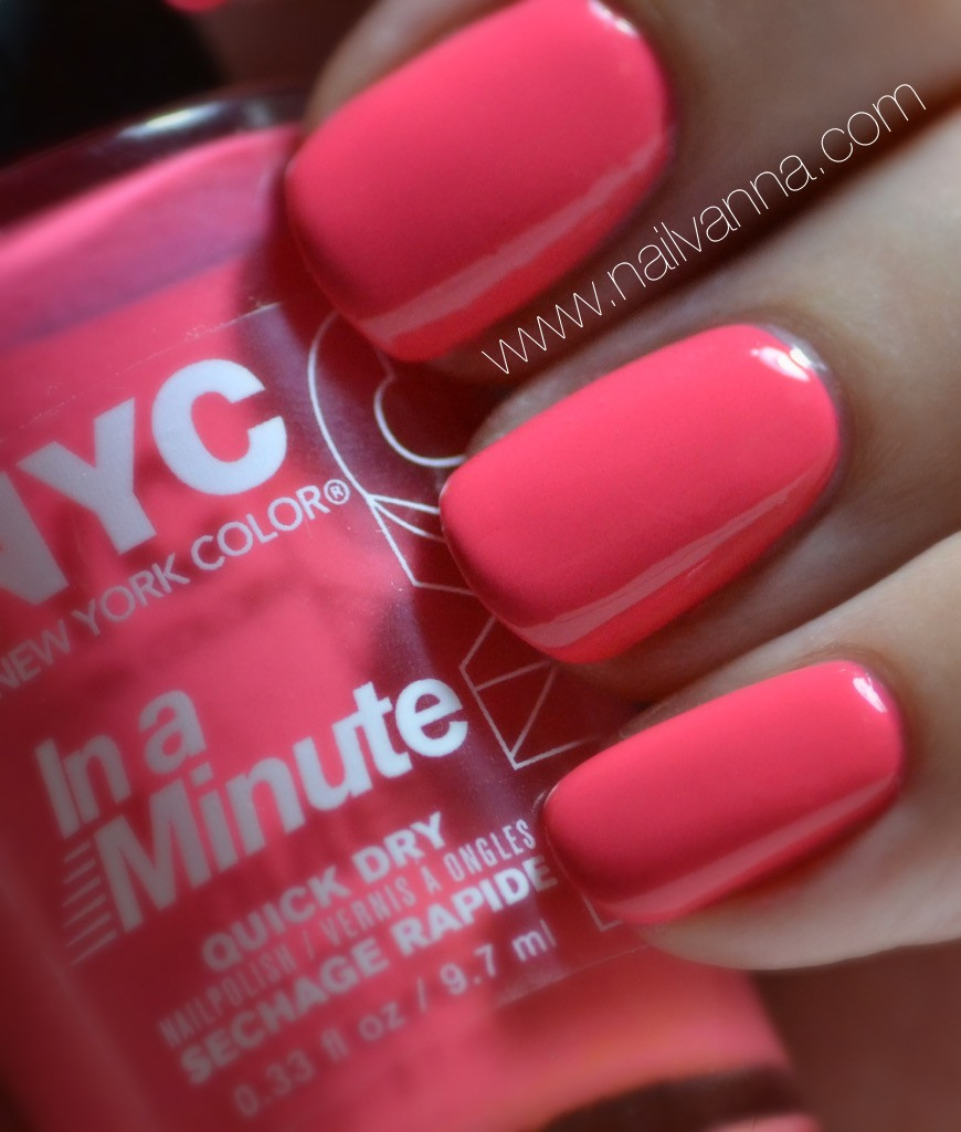 Nailvanna,nail polish review,lacquer,NYC,Penn Station Pink
