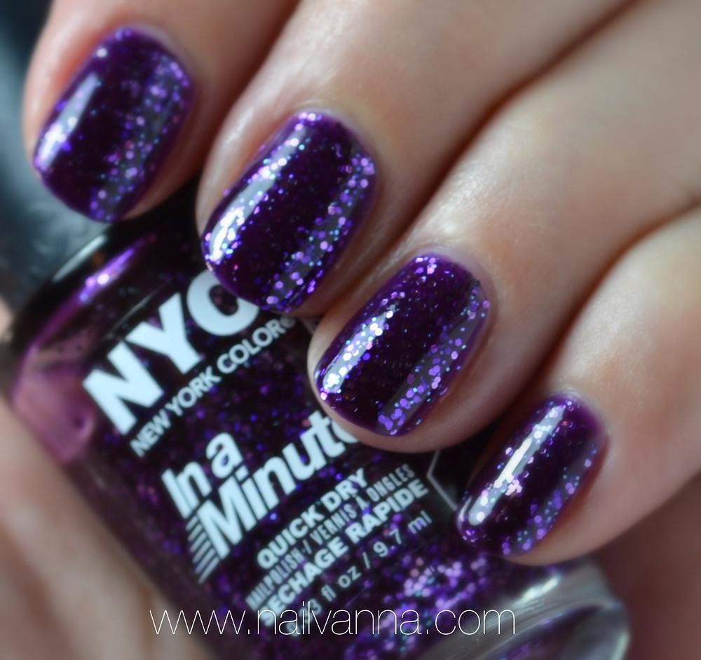 nailvanna, review, nyc, ny princess, purple glitter, nail polish