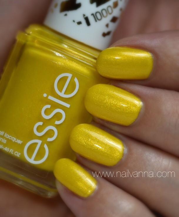 Nailvanna,nail polish reviews,lacquer,Essie,Aim To Misbehave,1000,yellow