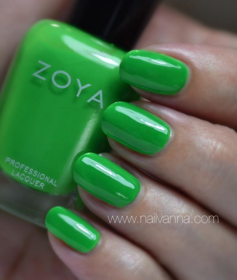 Nailvanna,nail polish reviews,laquer,zoya, Evergreen,green