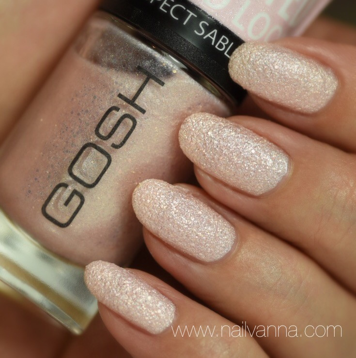 Nailvanna,nail polish reviews,lacquer,Gosh,Frosted Soft Pink,pink,textured
