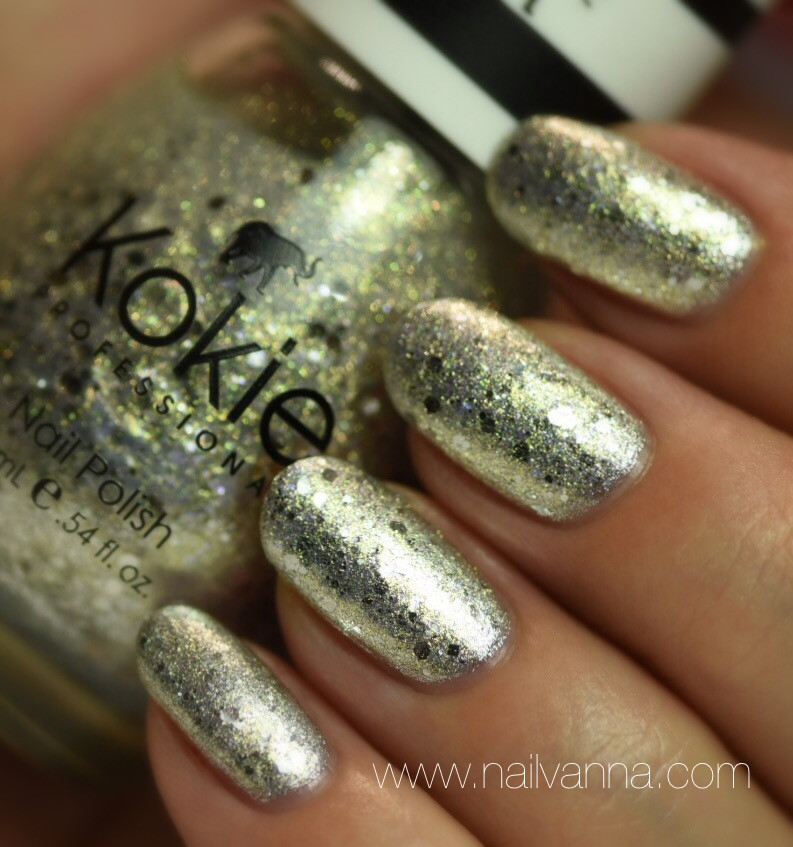 Nailvanna,nail polish reviews,lacquer,kokie,silver streak,twinkle