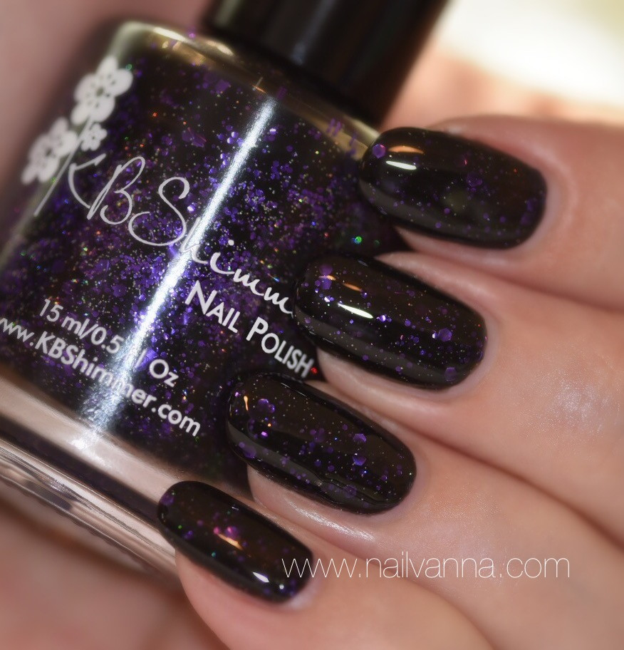 Nailvanna,nail polish review,lacquer,KB Shimmer,Fright This Way, Halloween,