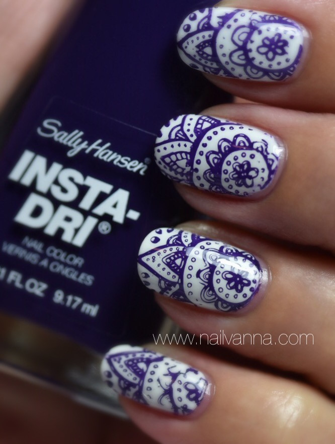 Nailvanna,nail polish reviews,lacquer,OPI ,My Boyfriend Scales Walls,Sally Hansen,Plummet