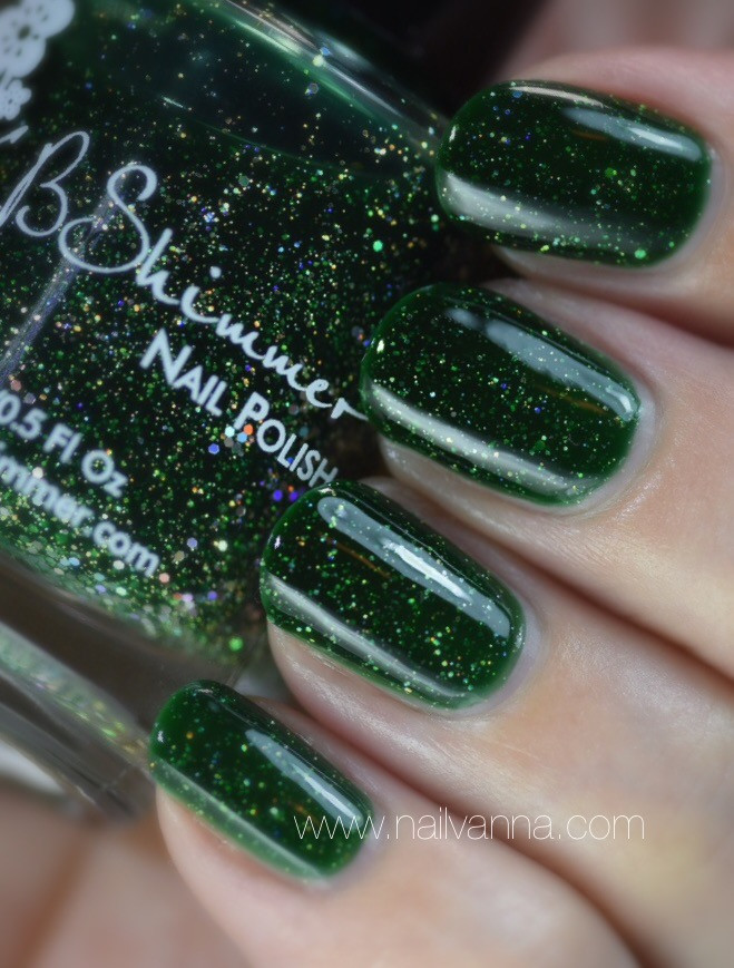 nailvanna,nail polish reviews,lacquer,kb shimmer,king of the big dill,green,glitter