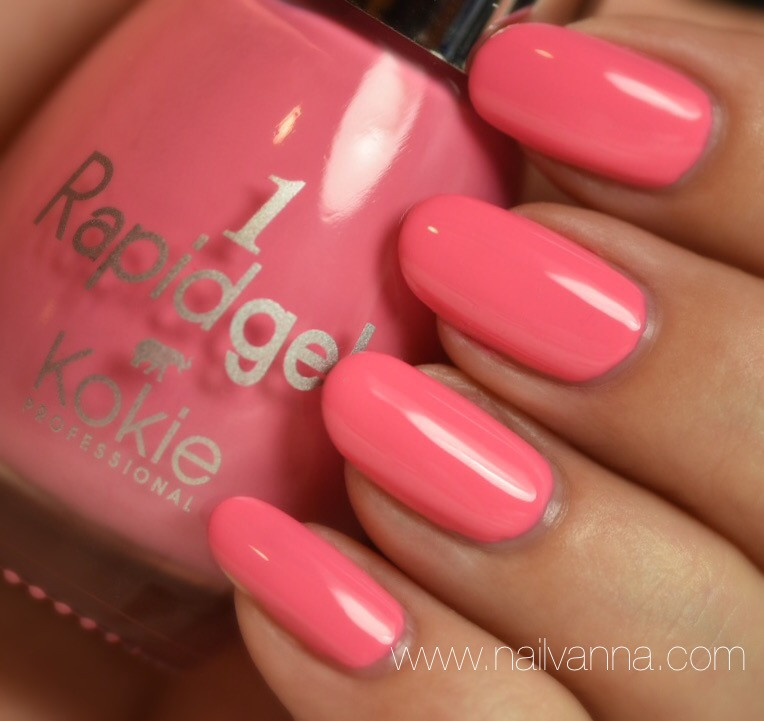 Nailvanna,nail polish reviews,lacquer,Kokie,Flirt Alert,pink