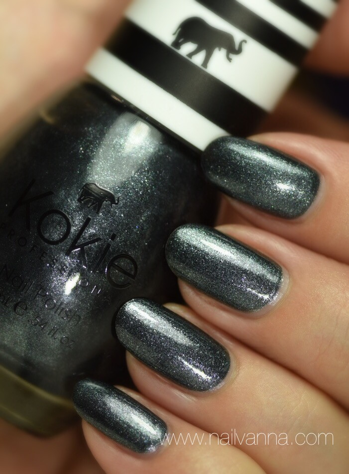 Nailvanna,nail polish reviews, lacquer,Kokie,Protoge,grey,glitter