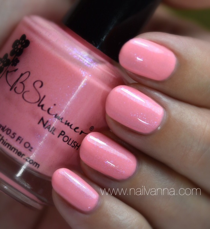 Nailvanna,nail polish reviews,lacquer,KB Shimmer,Pink,Good Reef!
