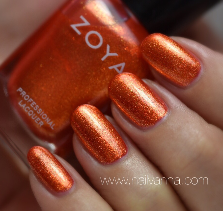 Nailvanna,nail polish reviews,lacquer,Zoya,Amy,orange