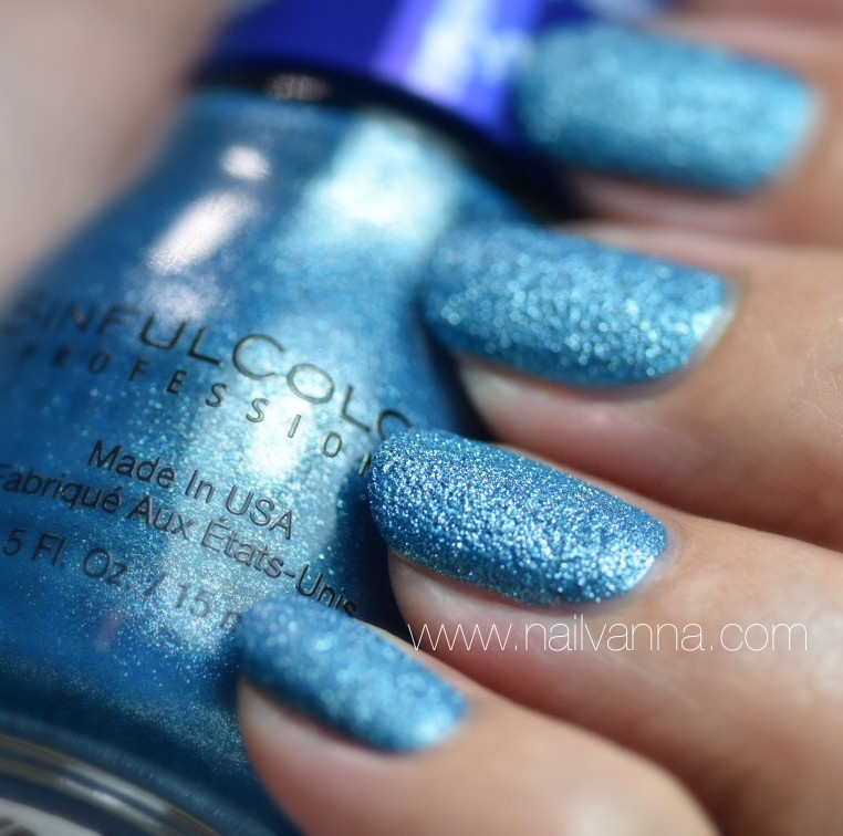 Nailvanna,nail polish reviews,lacquer,Sinful Colors,Kustom Fit,textured,metallic blue,teal