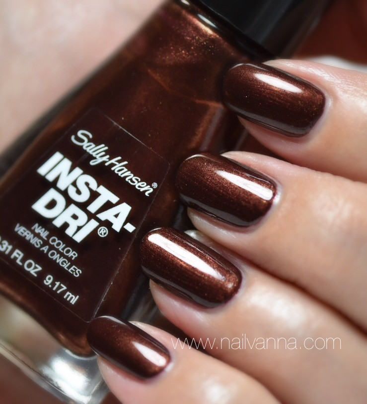 Nailvanna, nail polish reviews,lacquer, Sally Hansen, Cocoa A Go Go, chocolate
