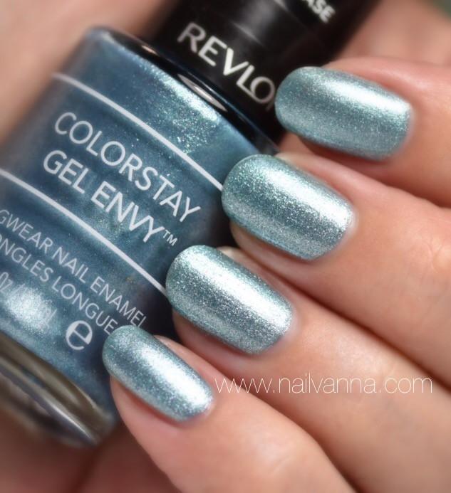 Nailvanna,nail polish review,lacquer,revlon,sky's the limit,blue,glitter