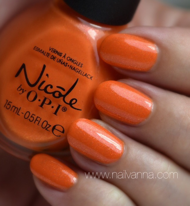 Nailvanna,nail polish review,lacquer,nicole,fresh squeezed,orange