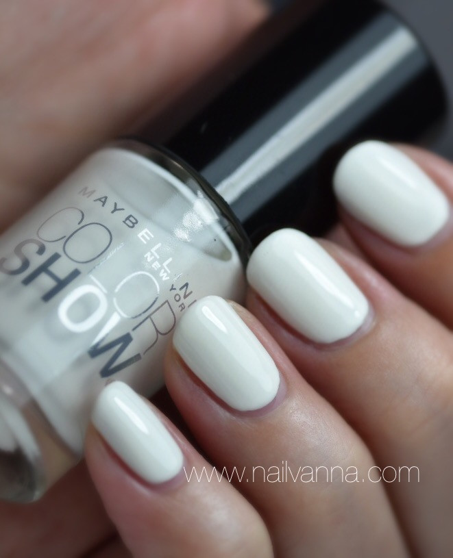 Nailvanna,nail polish review,lacquer, Maybelline,porcelaine party, white
