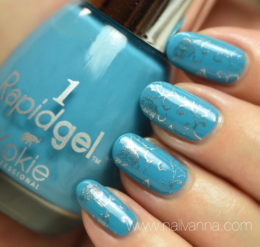 Nailvanna,nail polish reviews,lacquer,Kokie,Azure Allure,blue,Rapidgel