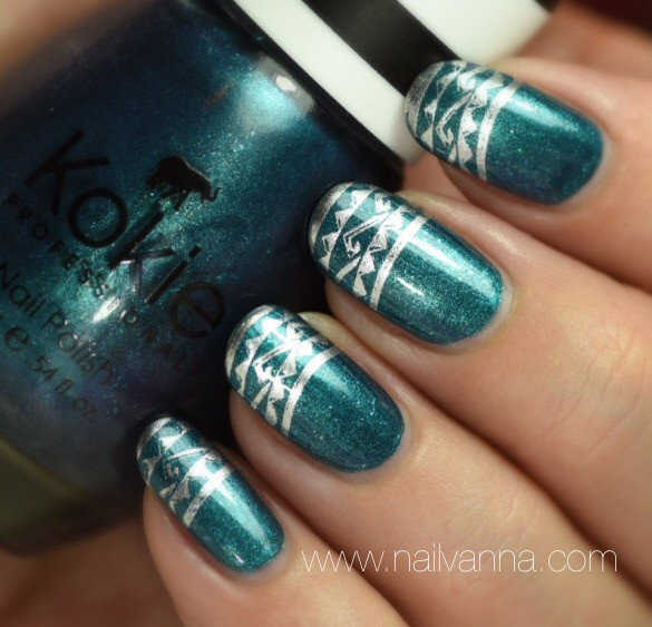 Nailvanna,nail polish review,lacquer,Kokie,Cocktail Party,Teal,metallic