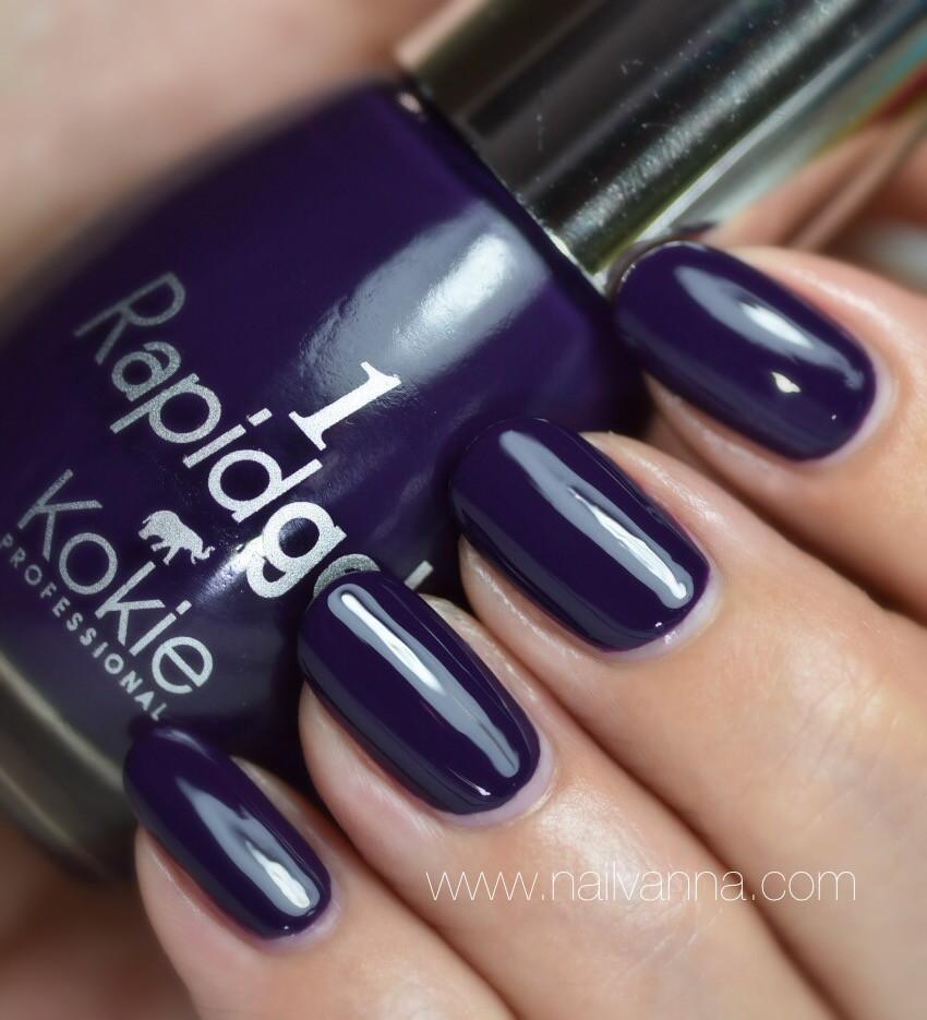 Nailvanna,nail polish reviews,lacquer,Kokie,Voodoo,Rapidgel,purple