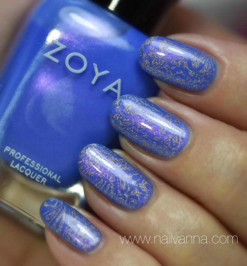 Nailvanna,nail polish reviews,lacquer,Zoya,Saint,blue