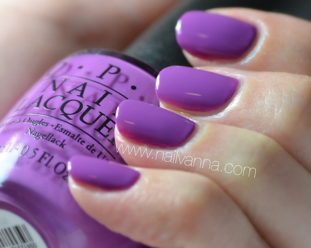 Nailvanna,nail polish reviews,lacquer,OPI,New Orleans,Will Manicure For Beads,purple