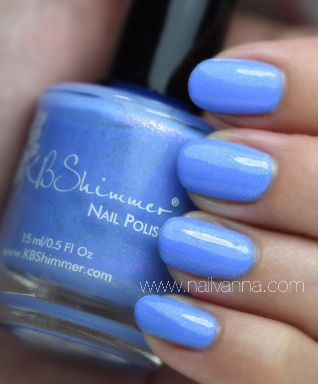 Nailvanna,nail polish review,lacquer,KB Shimmer,Suit The Breeze, Summer 2016, Blue