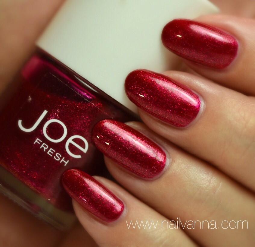 Nailvanna,nail polish reviews,lacquer,Joe Fresh,Ruby