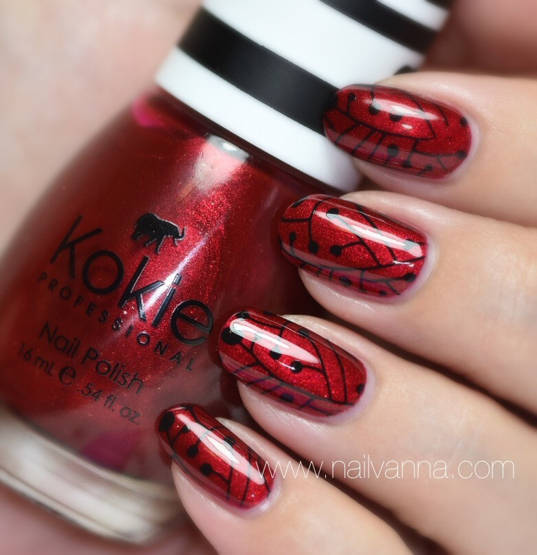 Nailvanna,nail polish reviews,lacquer,Kokie,Razzle Dazzle,red shimmer