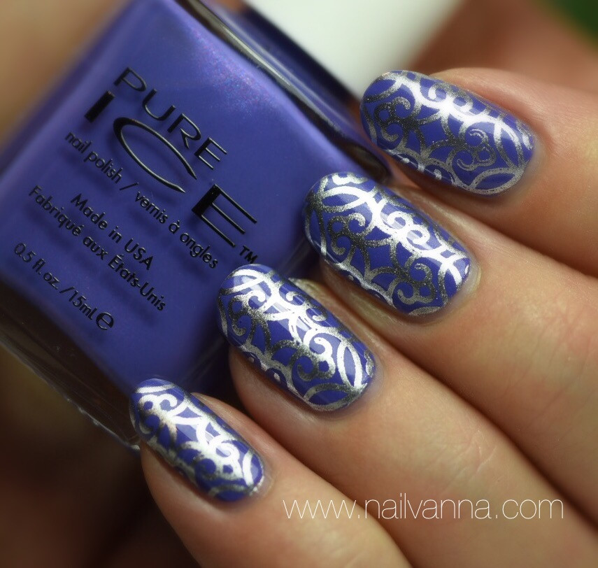 Nailvanna,nail polish reviews,lacquer,Pure Ice,It's All A Bluer,nail art