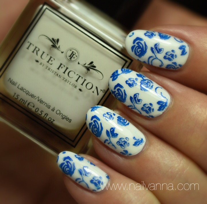 Nailvanna,nail polish reviews,lacquer,True Fiction,Sugar Pie,blue rose tattoo