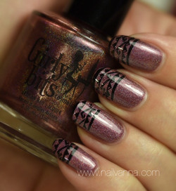 Girly Bits Auld Langs Wyne Stamped