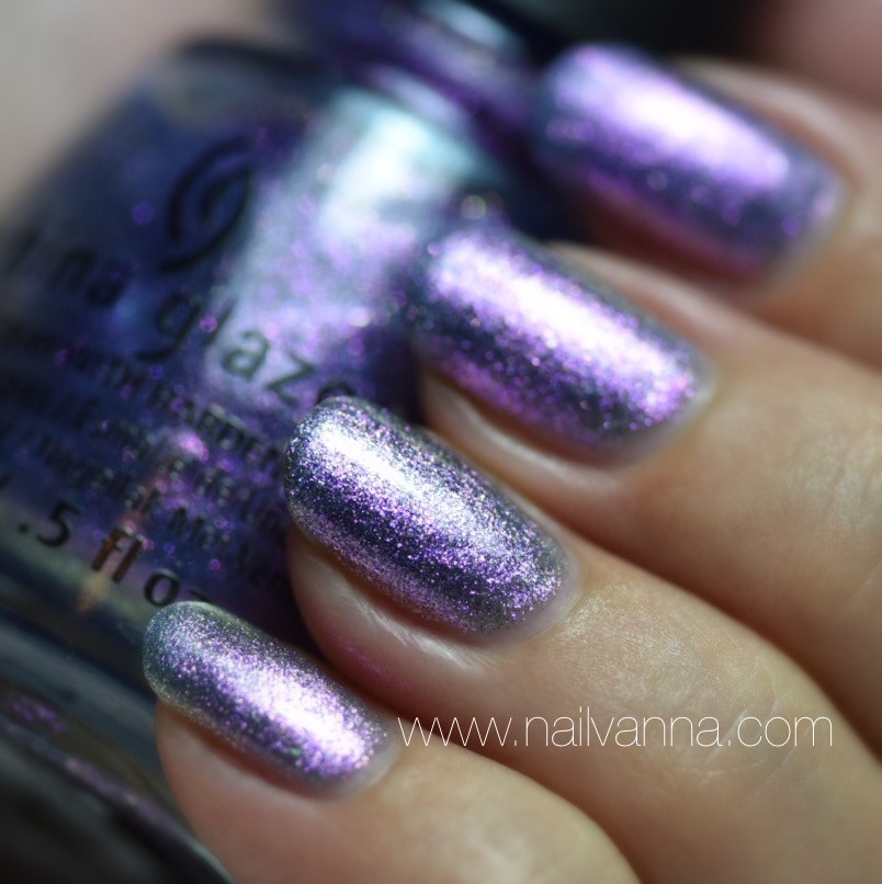 Nailvanna,nail polish reviews,lacquer,China Glaze,Don't Mesh With Me,purple
