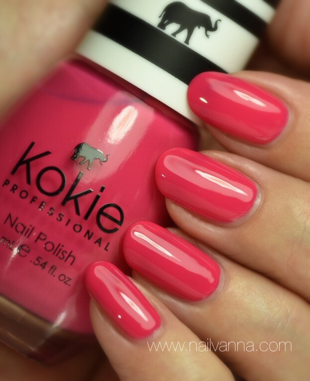 Nailvanna,nail polish reviews,lacquer,Kokie,Weekend Getaway,pink