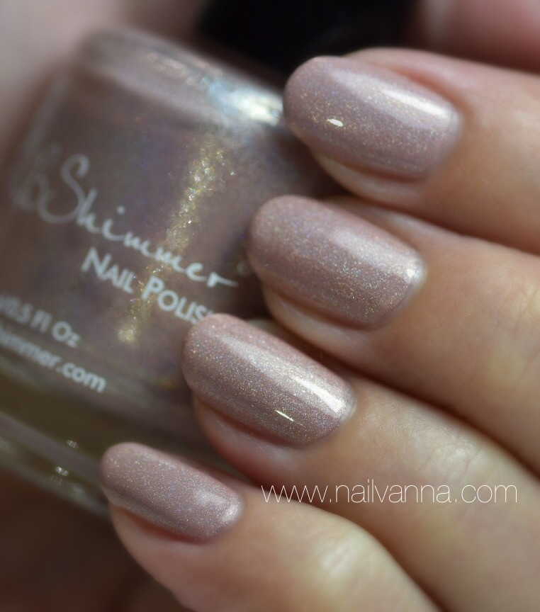 Nailvanna,nail polish review,lacquer,KB Shimmer,That's Nude To Me,Neutral,Holo