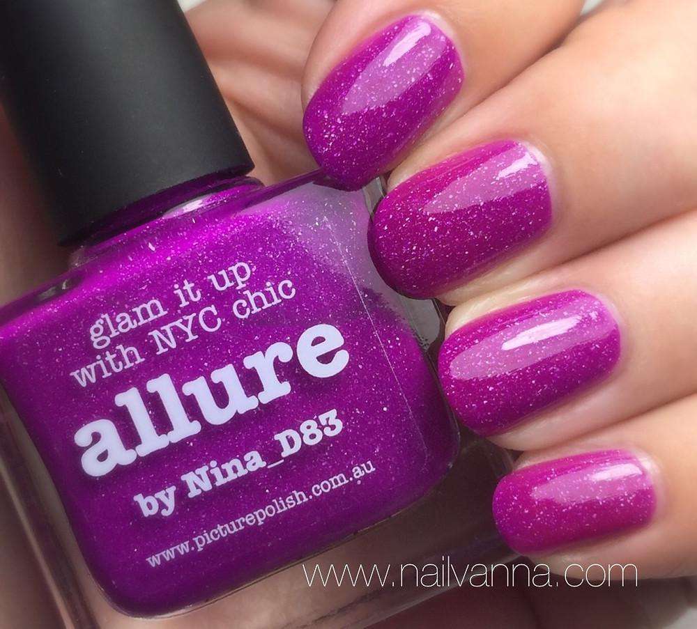 Nailvanna,nail polish reviews,lacquer,picture polish,allure,fuscha
