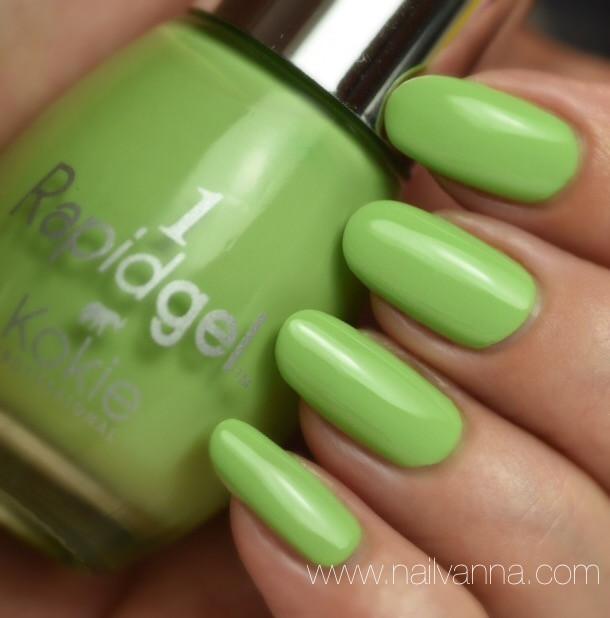 Nailvanna,nail polish reviews,lacquer,Kokie,Bit Of Lime