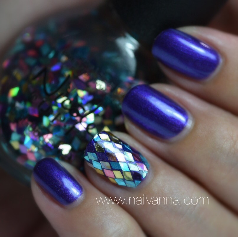 Nailvanna,nail polish reviews,lacquer,Nicole by OPI,Virtuous Violet, Be Awesome