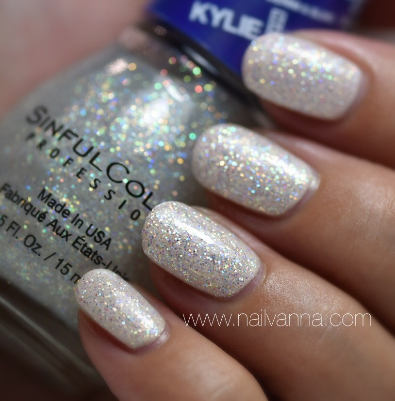 Nailvanna,nail polish reviews,lacquer,Sinful Colors,Konfection, glitter, kylie jenner