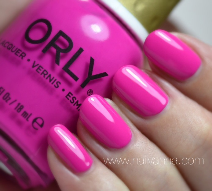 Nailvanna,nail polish review,lacquer,orly,risky behavior,pink,purple