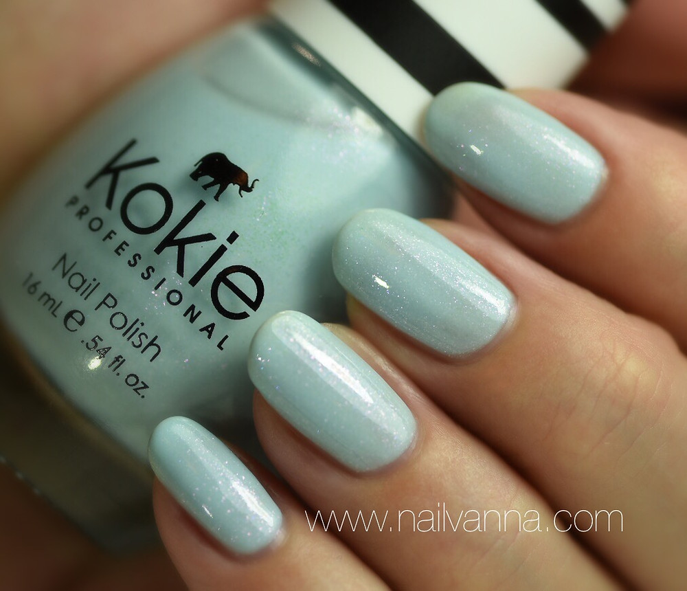 Nailvanna,nail polish reviews,lacquer,Kokie,Something Blue,powder blue, Cinderella