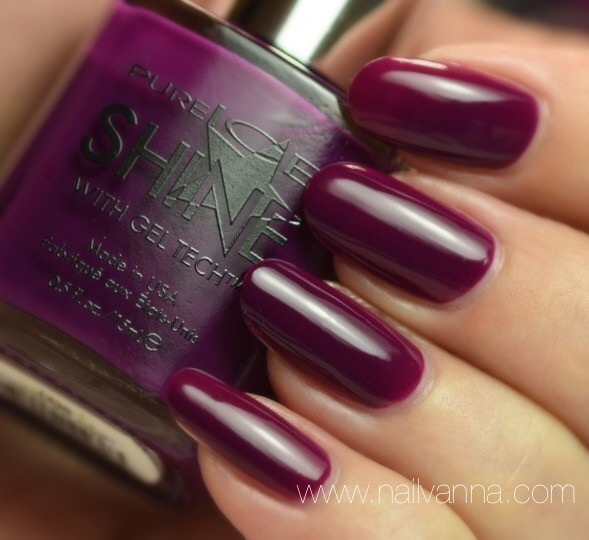 Nailvanna,nail polish reviews,lacquer,Pure Ice,Shock & Awesome,purple