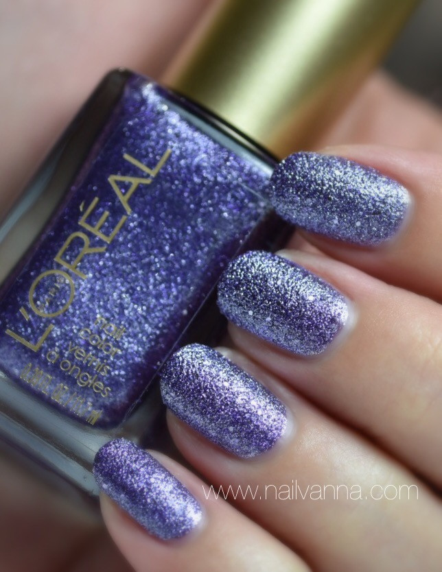 Nailvanna,nail polish reviews,lacquer,l'oreal,reign of studs,purple,textured