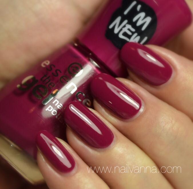Nailvanna,nail polish reviews,lacquer,Essence,Feels Like Birthday,magenta