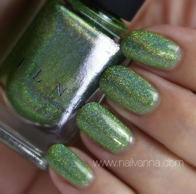 Nailvanna,nail polish review,lacquer,ILNP, 1UP,holo,green