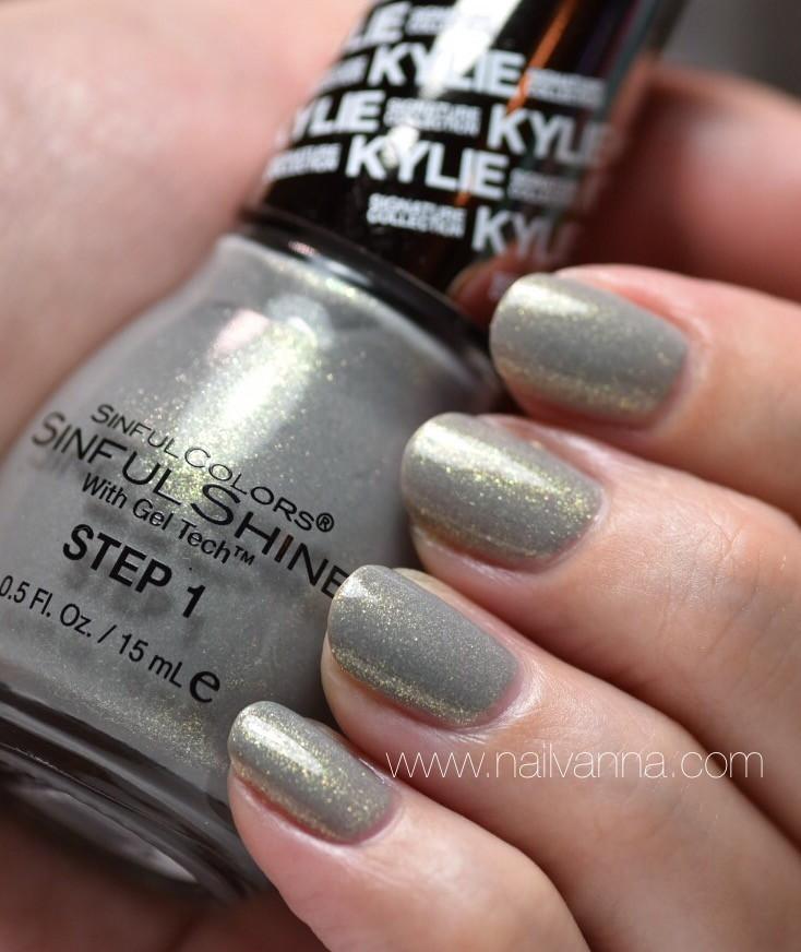 Nailvanna,nail polish reviews,lacquer,sinful colors,slay grey,king kylie