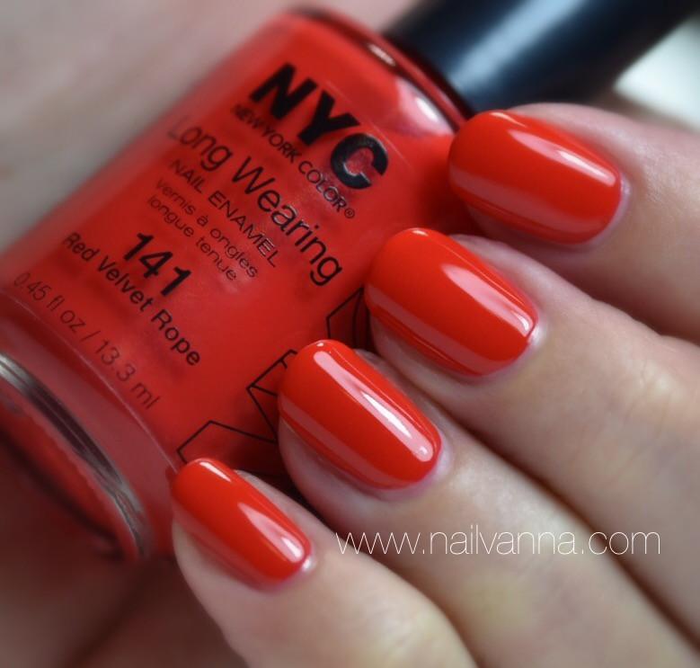 Nailvanna,nail polish reviews,lacquer,NYC,red velvet rope,red nail polish