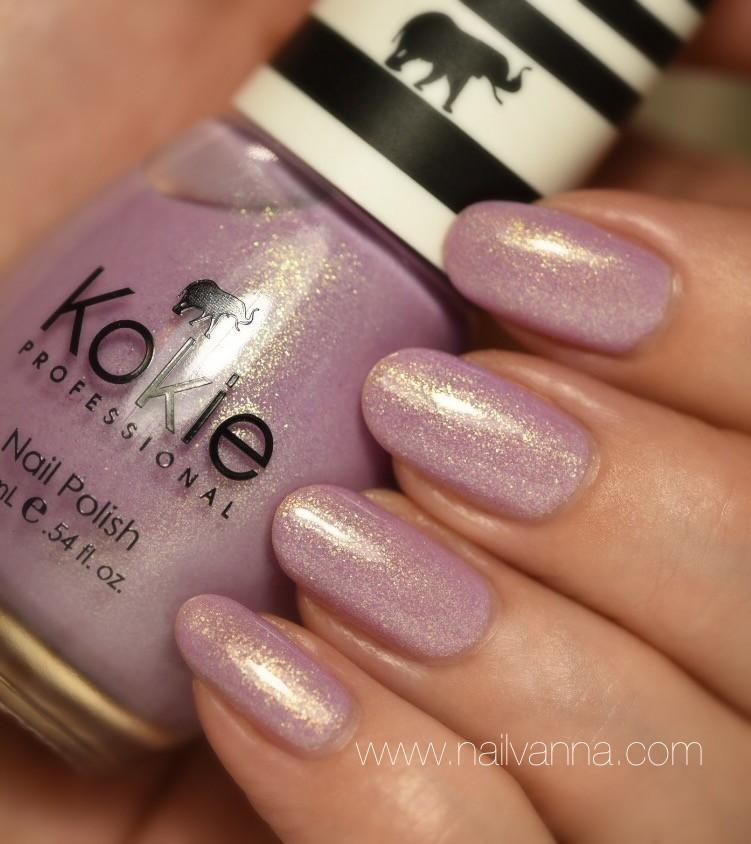 Nailvanna,nail polish reviews,lacquer,Kokie,Rock Star,lavender,Jem and the Holograms